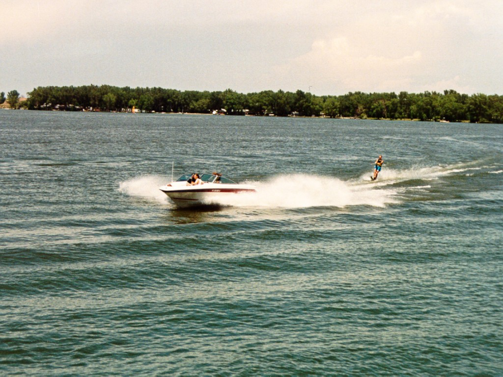 johnson lake skier