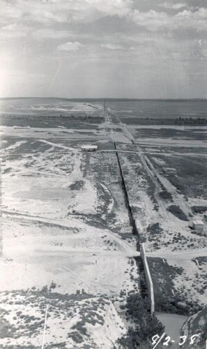 Kingsley Dam sheet piling line