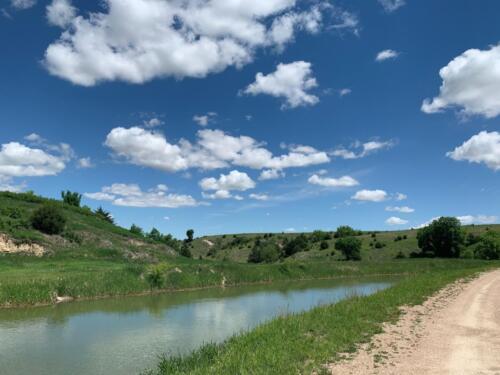 E-65 canal near Elwood Spring 2020