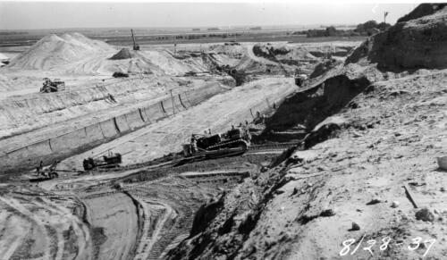 Exploratory trench